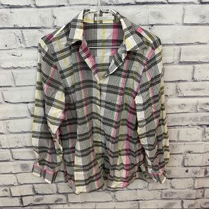 Foxcroft Tops - Foxcroft wrinkle free plaid button down shirt